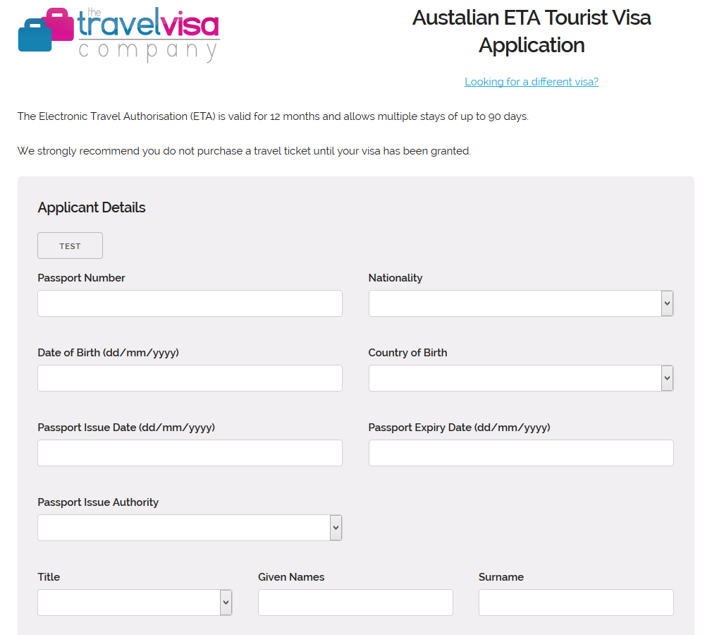 Travel Visa Company Online Visa Applications