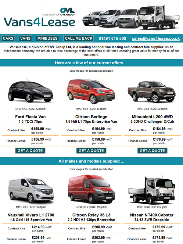 Van Leasing Email Campaign